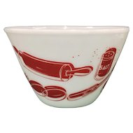 Fire King Kitchen Aids Mixing Bowl