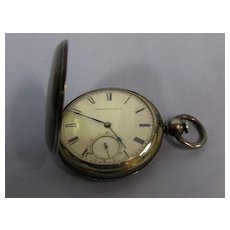 American Waltham Pocket Watch, KW KS Coin Silver c. 1871