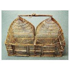 Victorian Era, Metal Hanging Double Bird Cage