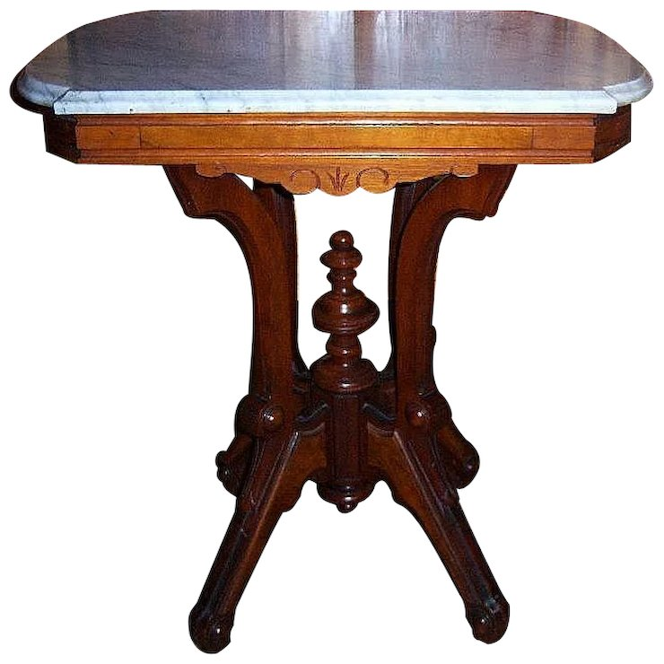Walnut lamp table center table victorian marble top roberts walnut lamp table center table victorian marble top aloadofball Gallery