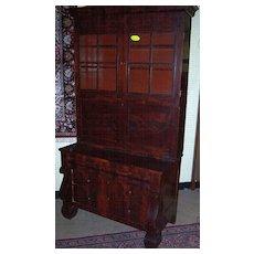 Mahogany Secretary Desk w Bookcase, Federal Period Empire, 1820-40, Signed