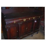 Mahogany Federal Empire Period Sideboard Pull out tray, 1830
