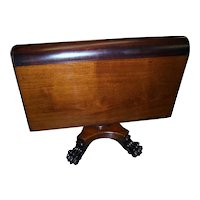 Mahogany Federal Empire Style Sutherland Table, Pedestal Platform with Paw Feet
