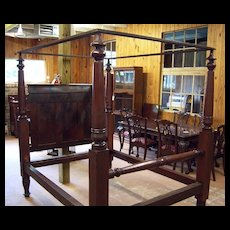 Cherry Wood Four Poster Canopy Bed 1830's