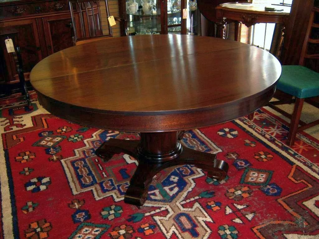 Mahogany Dining Table Federal Empire Style 5 Leaves Click To Expand