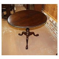 Walnut Tea Table with Tilt Top and Revolving Birdcage
