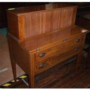 Mahogany Hepplewhite Style Desk with Tambour