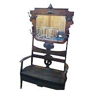 Oak Hall Tree Hall Seat