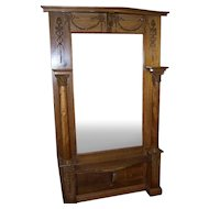 Pier or Hall Mirror w/ Adams Style Carving