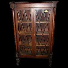 Mahogany Bookcase w Paw Feet