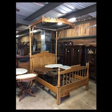 Four Poster Half Canopy Maple Bed