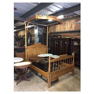 Four Poster Half Tester or Canopy Maple Bed