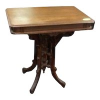 Walnut Victorian Lamp Table, Lamp Stand, Foyer Table