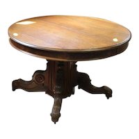 Walnut Victorian dining table with leaves
