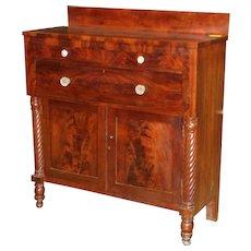 Jackson Press, mahogany and cherry, 1830-40
