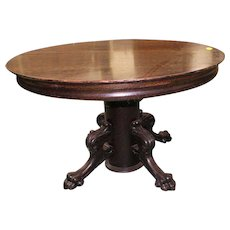 054f03bb4f7e Round Oak Dining Table with Pedestal Base