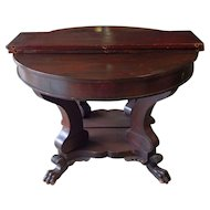 Mahogany Federal Empire Dining Table