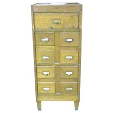 Oak File and Card Cabinet Weis, Macey, or Globe Wernicke