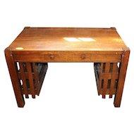 Oak Mission or Arts and Crafts Desk