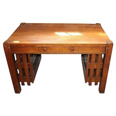 Oak Mission or Arts and Crafts Desk