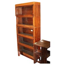 Globe Wernicke  5 Section Stacking Barrister Bookcase
