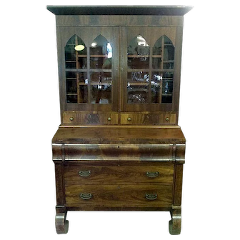 Federal Empire Period Secretary with Bookcase Top