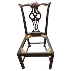 Cross Eye Owl Mahogany  Chippendale style chair