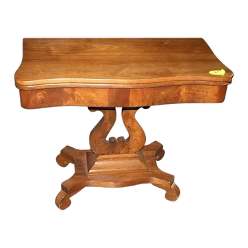 Mahogany Empire Period Game Table