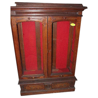 Walnut Eastlake Victorian Two Door Bookcase  sc 1 st  Ruby Lane & Roberts Antiques : American Antique Furniture at fair prices.   Ruby ...