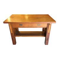 Oak Library or Student Desk Mission Period and Style