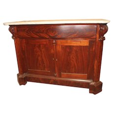 Mahogany Empire Period Cabinet with Marble Top