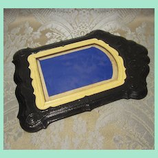 Fancy Black Frame of Pressed Board for Doll Display