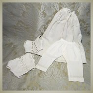 Early French Fashion Whites - 4 Pieces for Larger Dolls