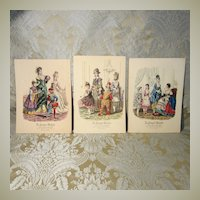 La Poupee Modele Prints - Three Featuring Masquerade Costumes