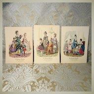La Poupee Modele Prints - Three Featuring Masquerade Costumes