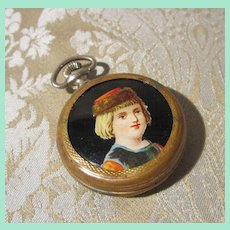 Toy Pocketwatch - Antique French for Large Doll