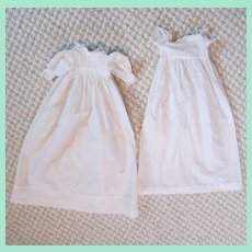 Set of Long Gowns For a French Bebe Dressed as an Infant