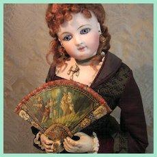 Superb Brise Fan - Antique Miniature for French Fashion