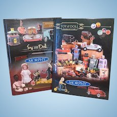 Two Morphys Auction Catalogs - Toys and Dolls - Sept. and Dec. 2017