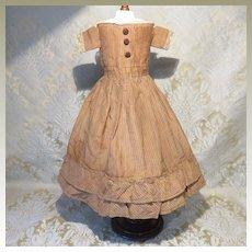Stripe Silk Antique Doll Dress