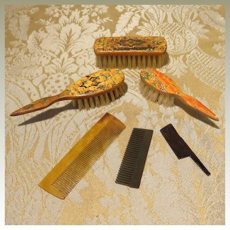 Small Group of Brushes and Combs for Antique Dolls