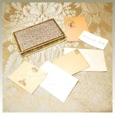 French Fashion Stationery in Fancy Box - Antique