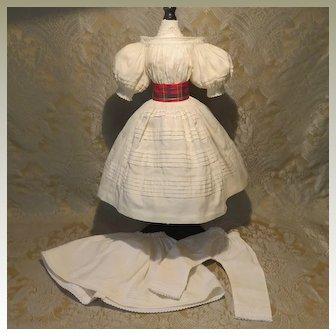 Splendid Mode Enfantine French Fashion Dress W/ Petticoat and Drawers