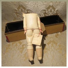 """Antique German Kid Body With Original Box - Marked """"Columbia"""""""