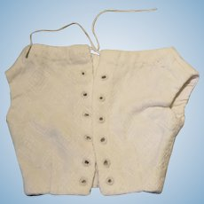 Antique White Cotton Corset for Larger French Fashion