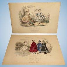"Pair of Original Prints from ""La Poupee Modele"" - 1864, 1868"