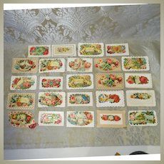 Fab Group of 24 Valentine Calling Cards - Victorian