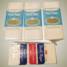 Group of Vintage Cotton Twill Tapes for Doll Costuming