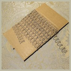 1 Yard Blonde French Lace - Black and Cream - Rare!