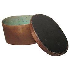 Wood Hatbox - Antique French - Medium Size